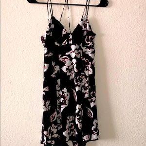 Express black floral short dress size 0